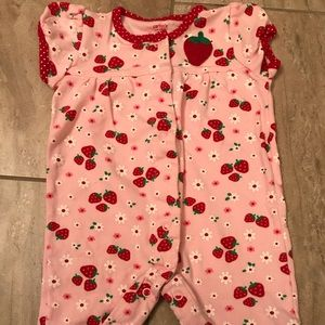 Pink strawberry Carter's jumpsuit